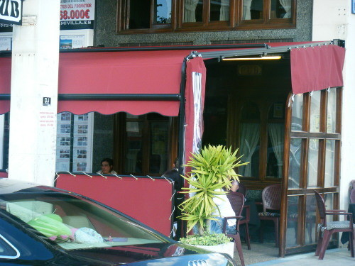 Toldos Antolín Hostelería mampara